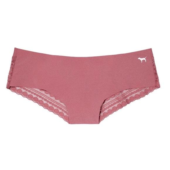 9d369ad4eb565 Pink VS Lace back no show cheekster NIP L NWT